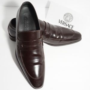 Versace Shoes - Versace Collection Patent Leather Derby Shoes